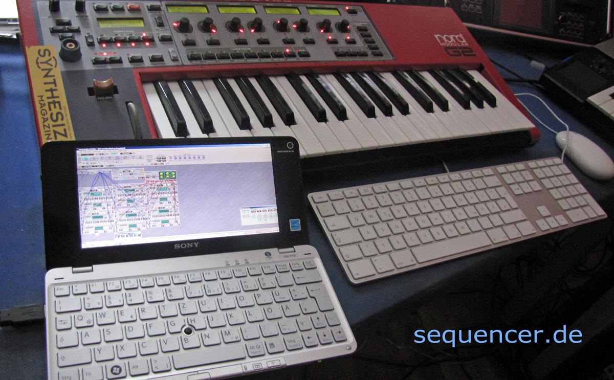 Sony Vaio P Editor für G2 Sony Vaio P Editor for G2 synthesizer
