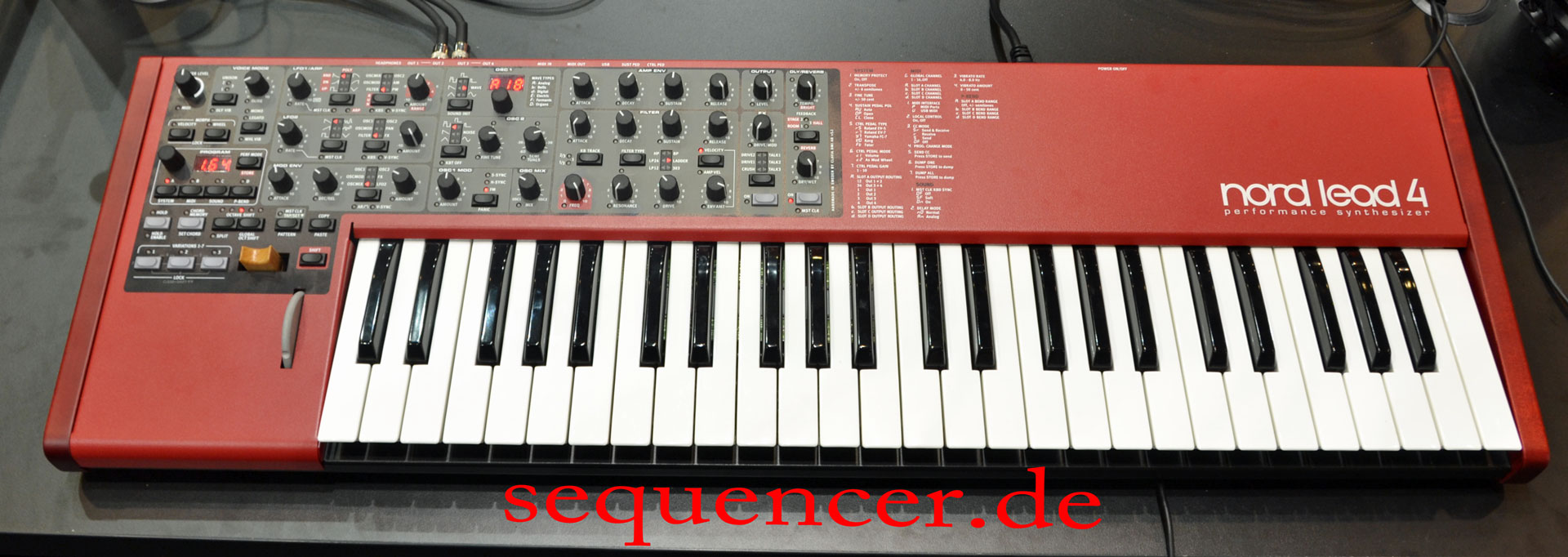 clavia nord lead 4 nord rack 4 nord lead 4r digital synthesizer. Black Bedroom Furniture Sets. Home Design Ideas