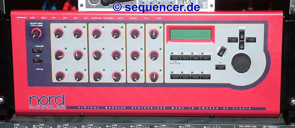 Clavia Nord Modular Rack Clavia Nord Modular Rack synthesizer