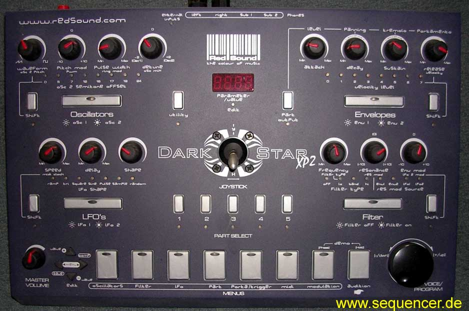 Red Sound Dark Star , XP2 synthesizer