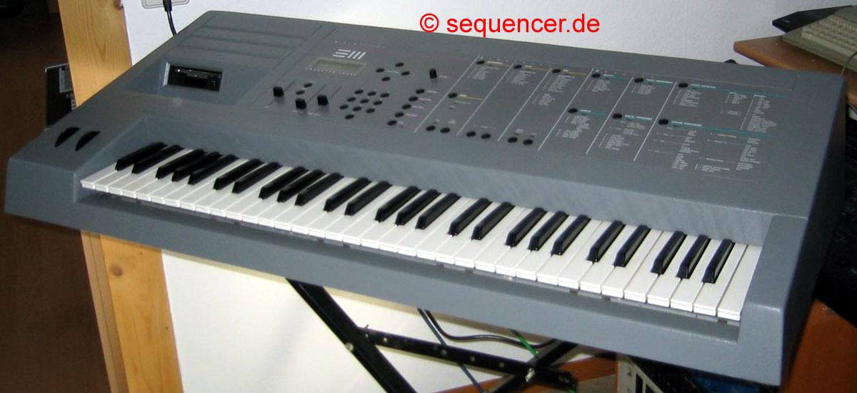 Emu Emulator 3, Emulator III, e III synthesizer