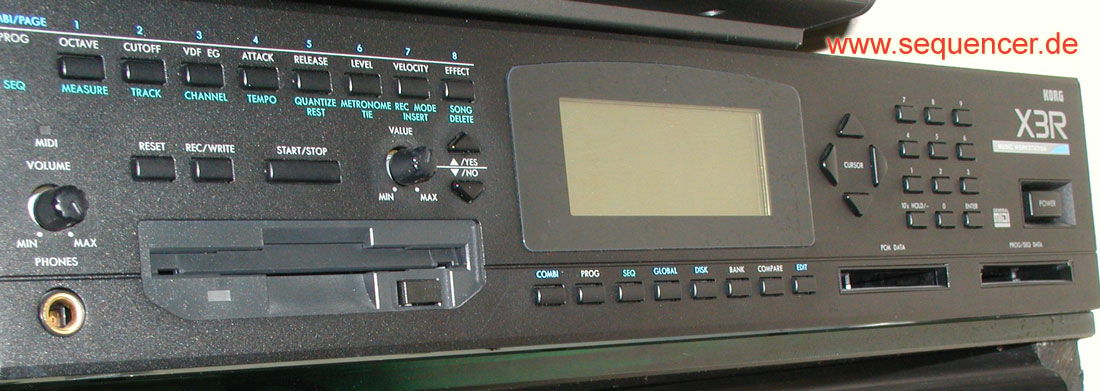 Korg X2, X3, X3R synthesizer