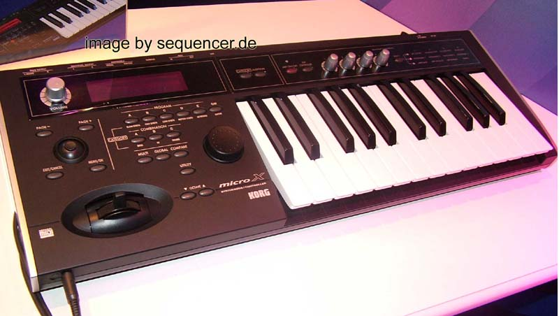Korg X50, microX synthesizer