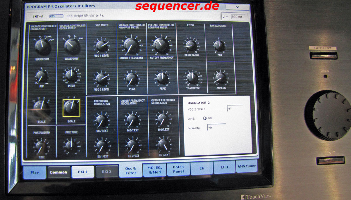 Kronos MS20 Simulation Kronos MS20 Simulation synthesizer