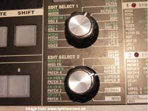 Korg MicroKorg Synthesizer knobs