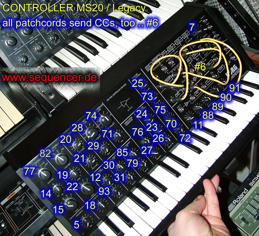 Korg Legacy Controller Korg Legacy Controller synthesizer