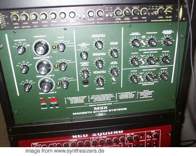 Macbeth M3X synthesizer
