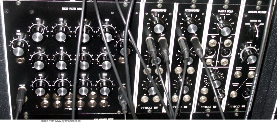 moog modular synthesizer system fixed filter bank