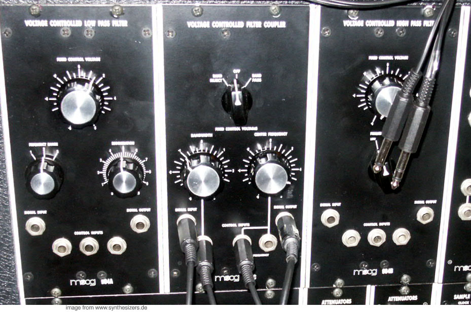 moog modular synthesizer system filter / VCF