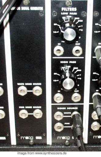 moog modular synthesizer system noise & filters