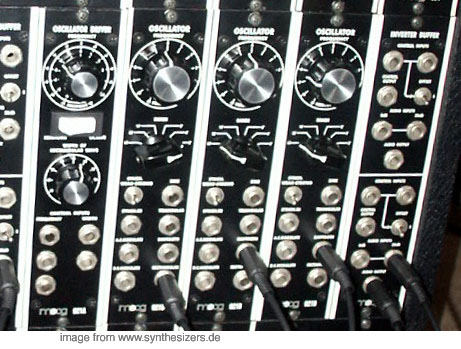 moog modular synthesizer system VCOs and driver