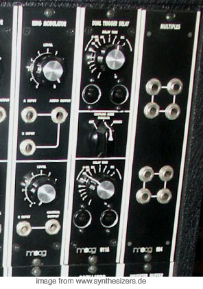 moog modular synthesizer system trigger delay ring modulator