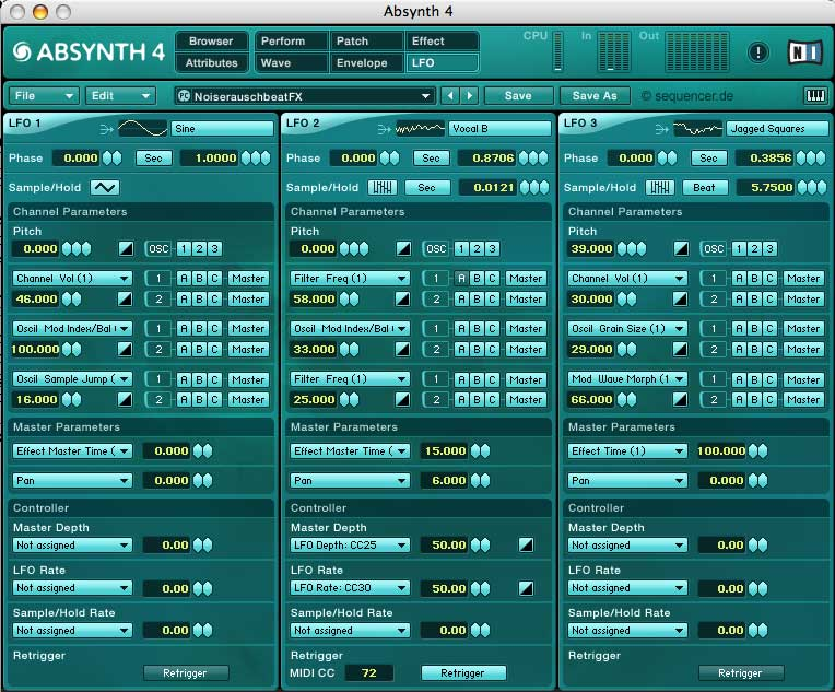 Native Instruments Absynth synthesizer