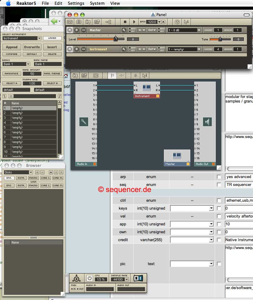 Native Instruments Reaktor synthesizer