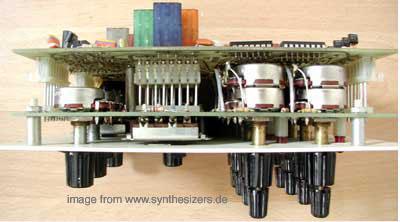 oberheim 4voice minisequencer board