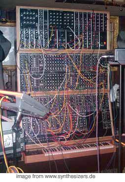 moog modular on stage