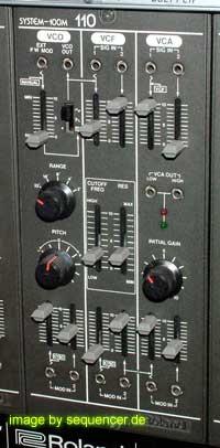 roland system 100m 110 VCO + VCF + VCA