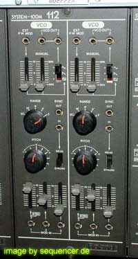 system 100m system 100m Module 112: dual VCO synthesizer