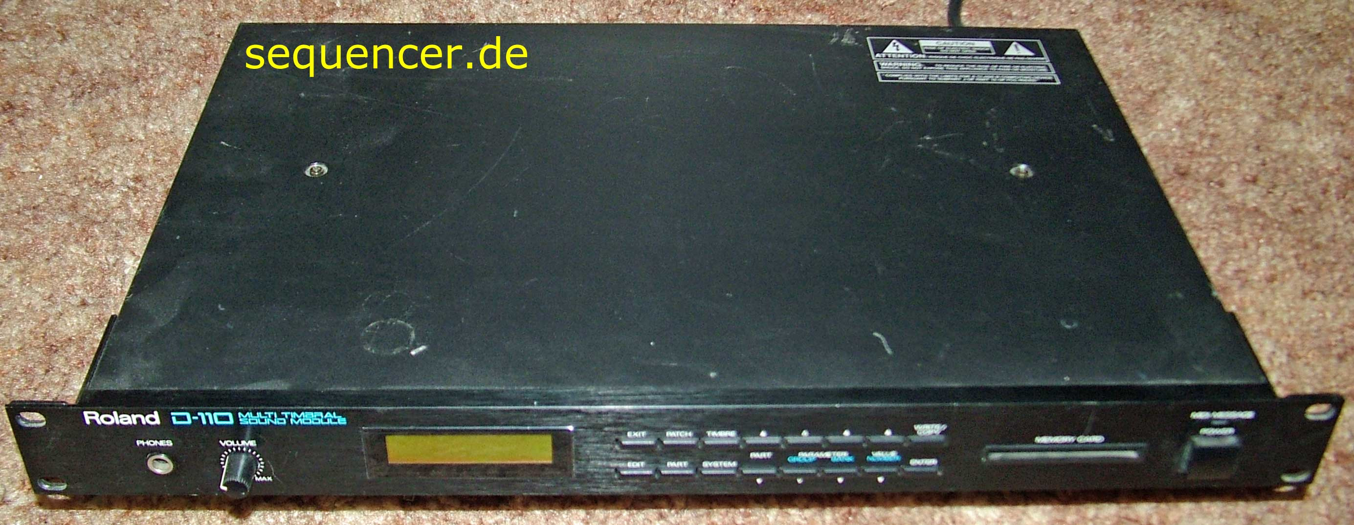 D-110 Rack D-110 Rack synthesizer
