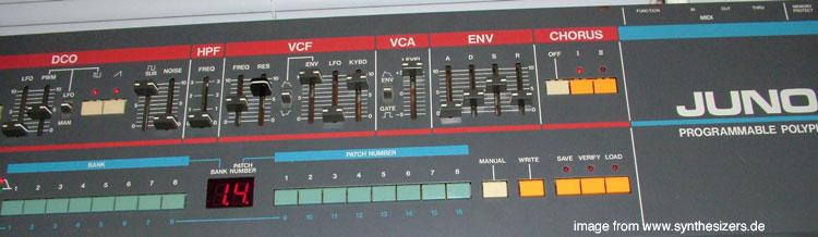 Roland HS60, Juno 106S Analog Synthesizer