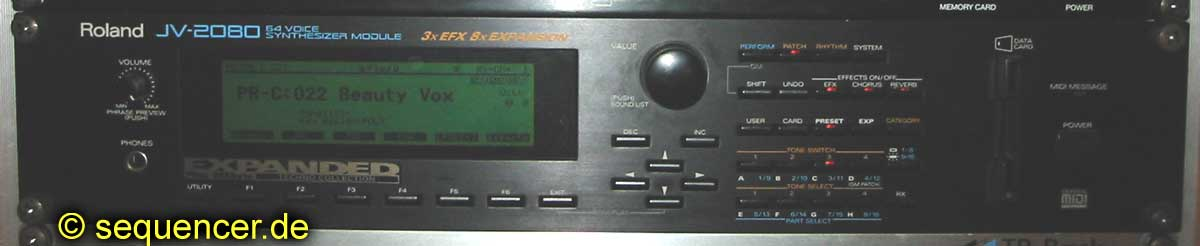JV-2080 Roland JV-2080 synthesizer
