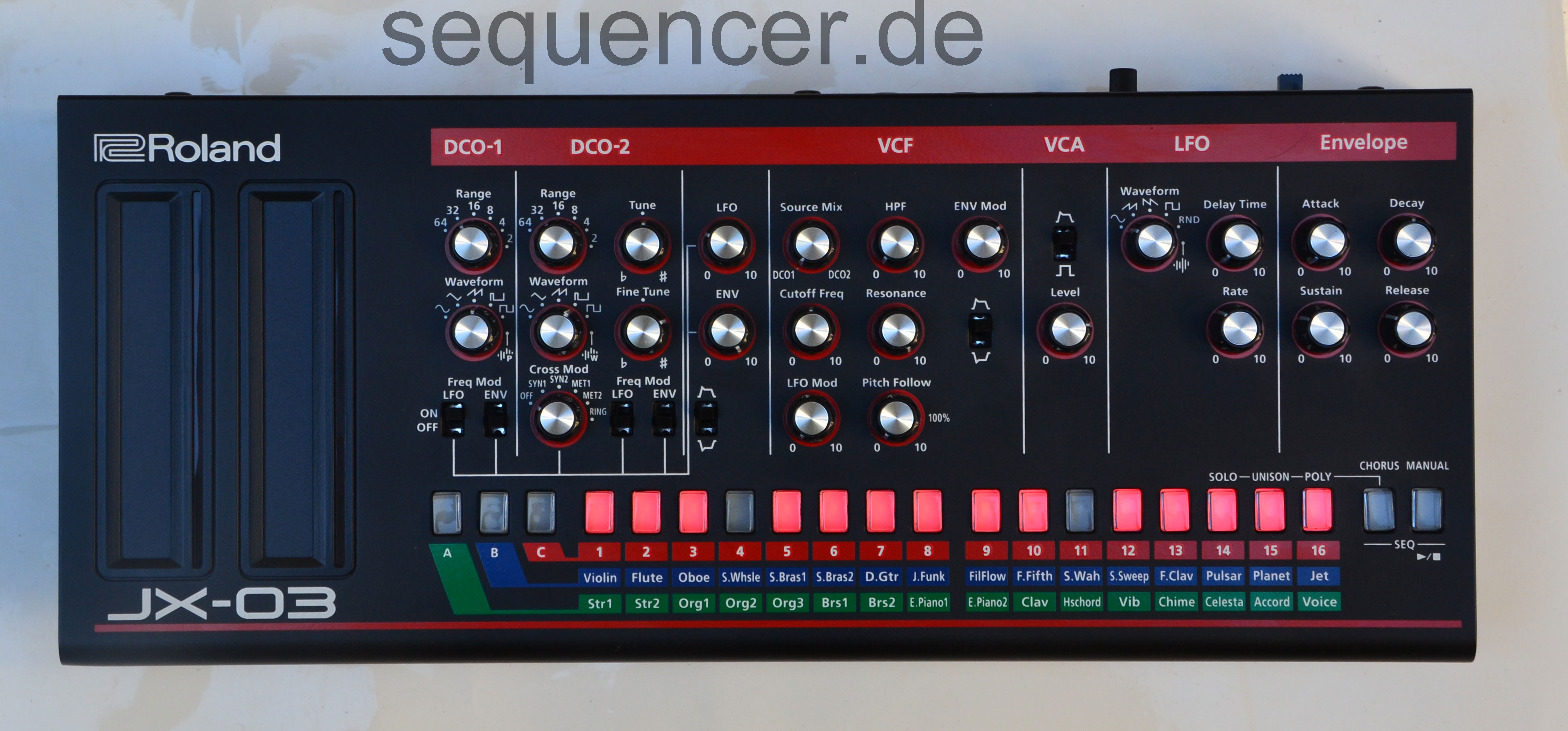 Roland Boutique , JX03 synthesizer