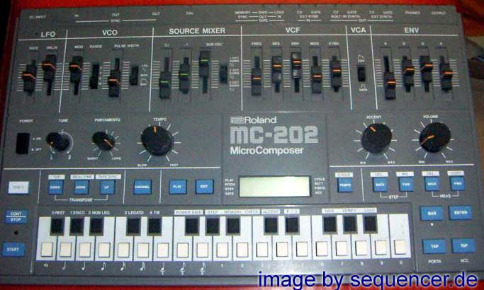 Roland MC202 synthesizer