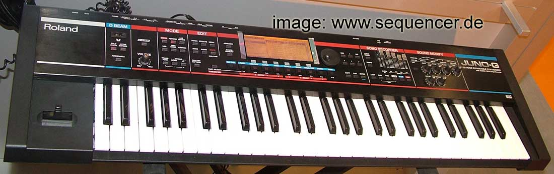 Roland Juno G synthesizer