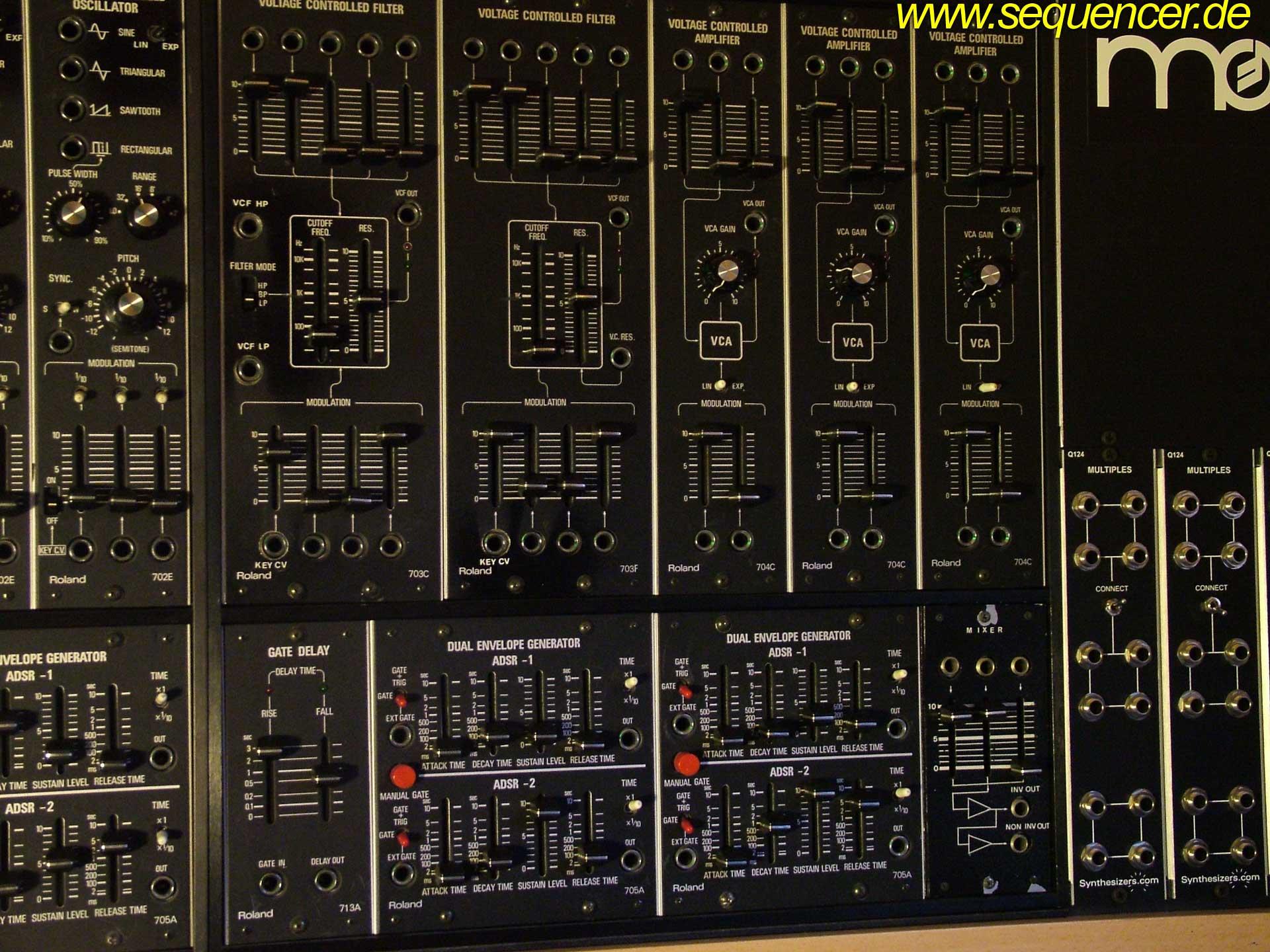Roland System 700 VCF Roland System700 synthesizer