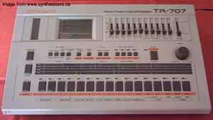 Roland TR707 synthesizer