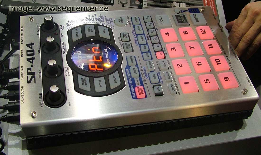 Roland SP404 synthesizer