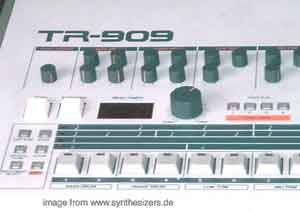 Roland TR909 Roland TR909 synthesizer