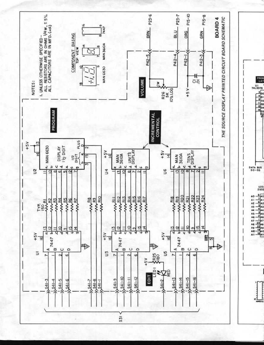 moog schematics i (schaltplan) liberation source 3 sequencer  moog taurus schematics 2 #37
