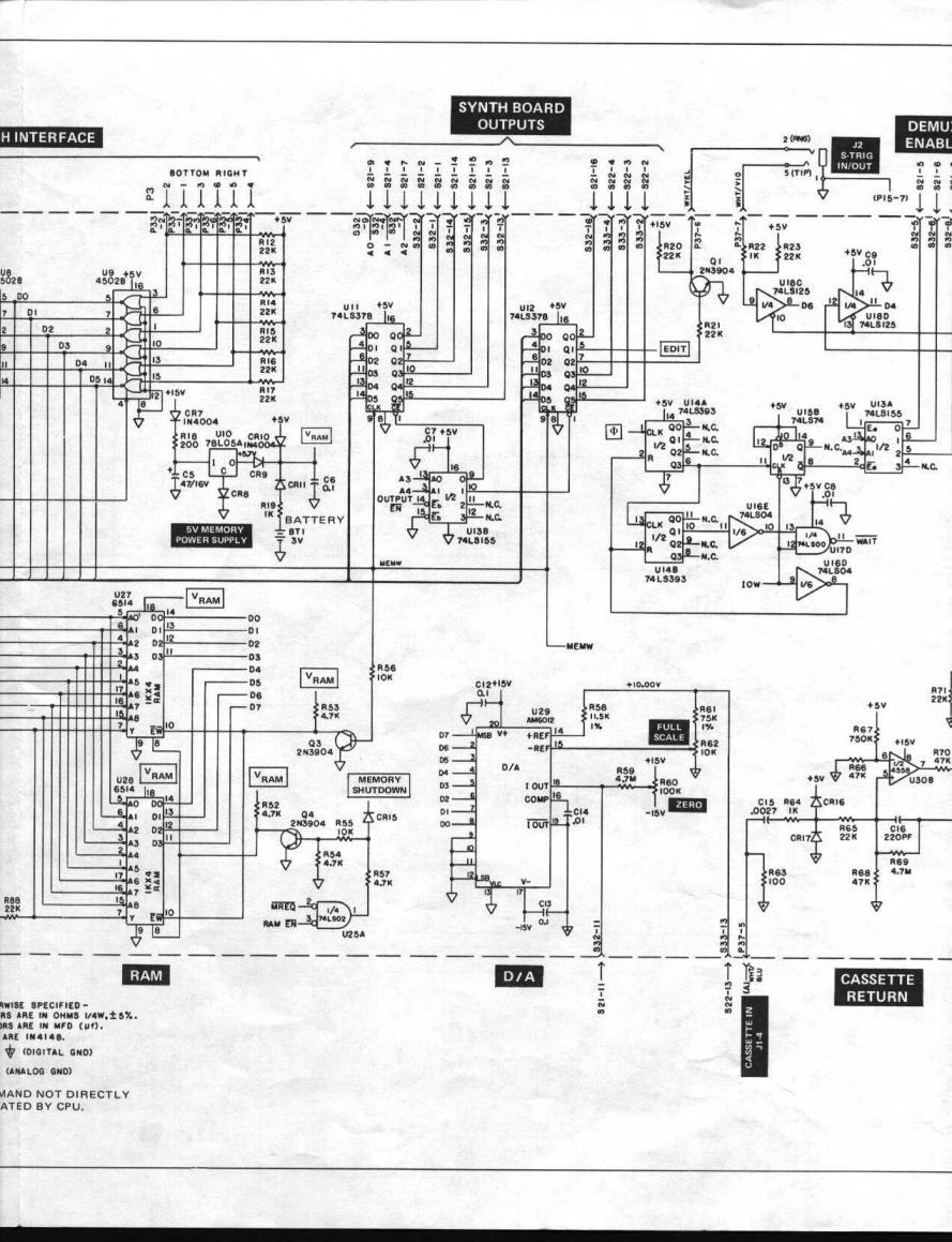 Moog Schematics I Schaltplan Liberation Source 3 Sequencer Taurus 2