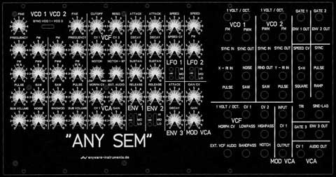 big version SEMTEX XL modular synthesizer oberheim SEM compliant