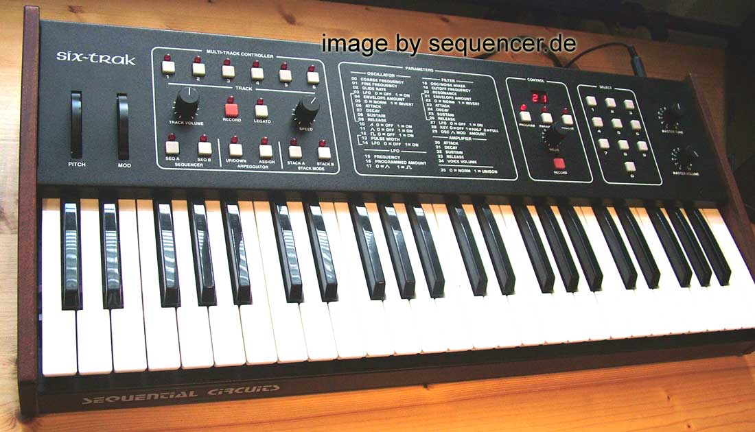 Sequential Circuits Sixtrak synthesizer
