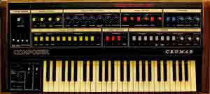 Crumar Composer synthesizer