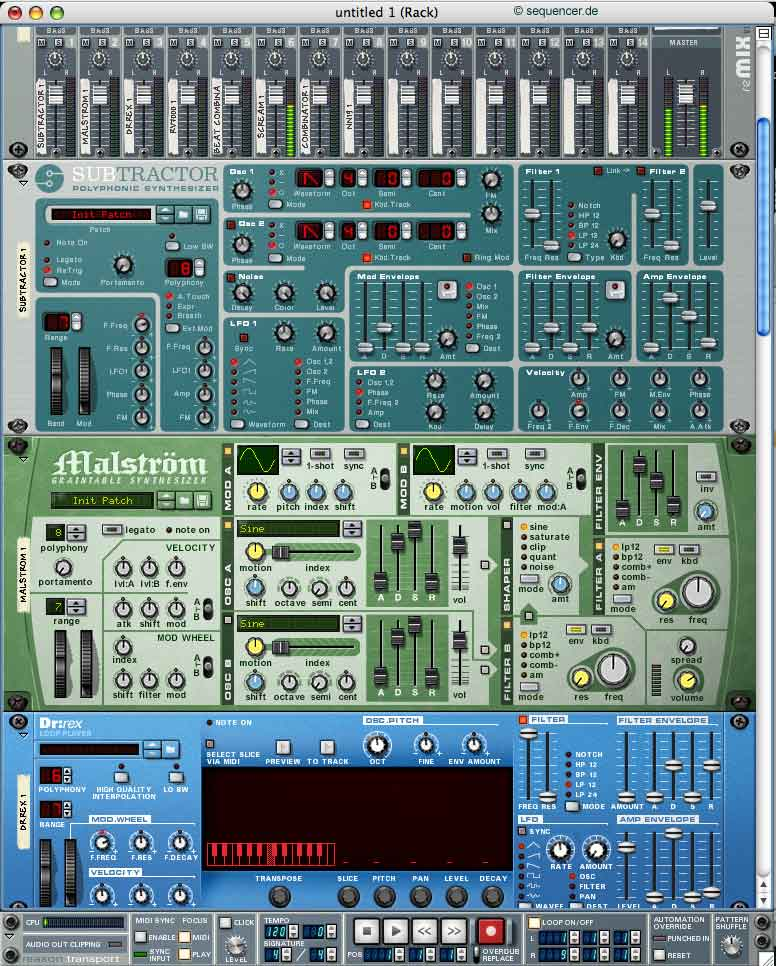 Propellerheads Reason synthesizer