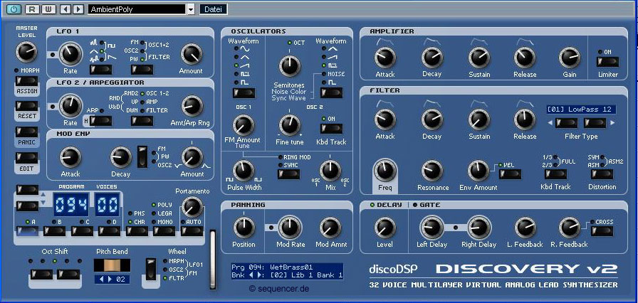 DiscoDSP Discovery synthesizer
