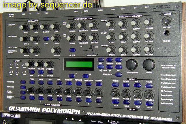 quasimidi polymorph digital synthesizer step sequencer. Black Bedroom Furniture Sets. Home Design Ideas