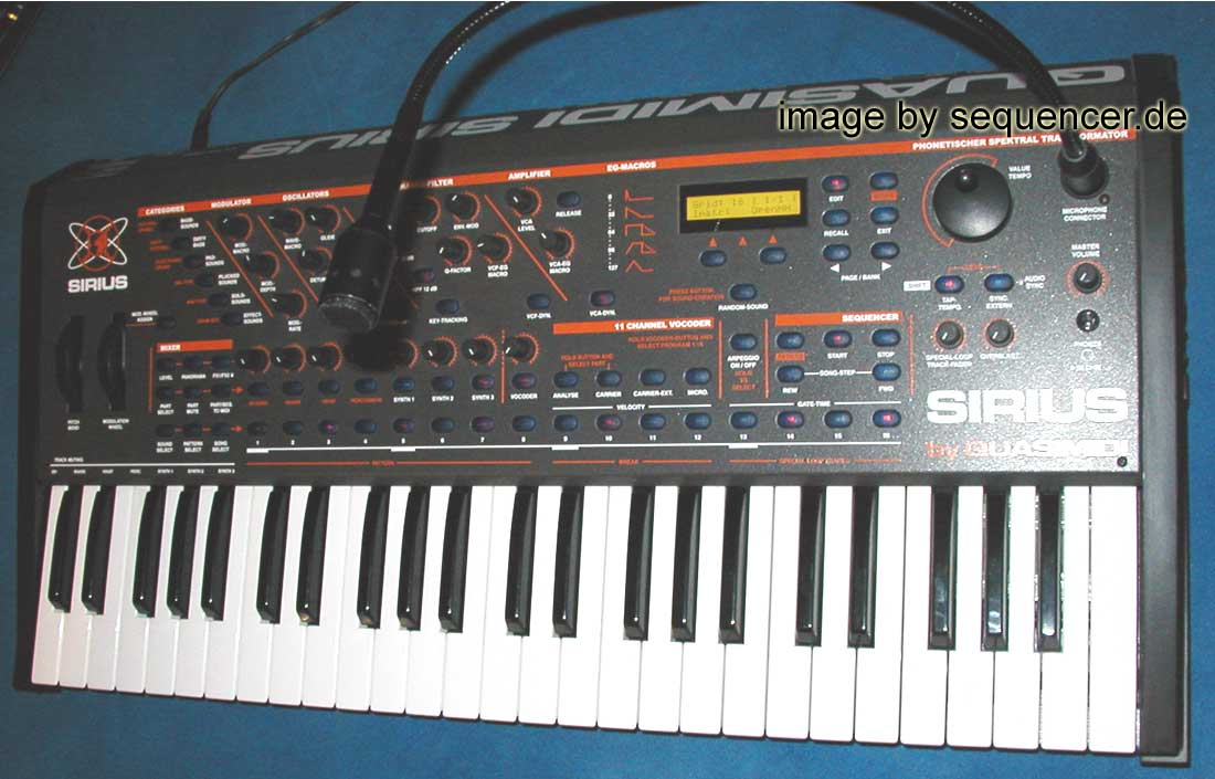 Quasimidi Sirius synthesizer