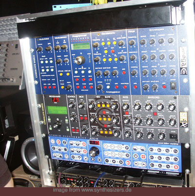 studio electronics synthesizer rack