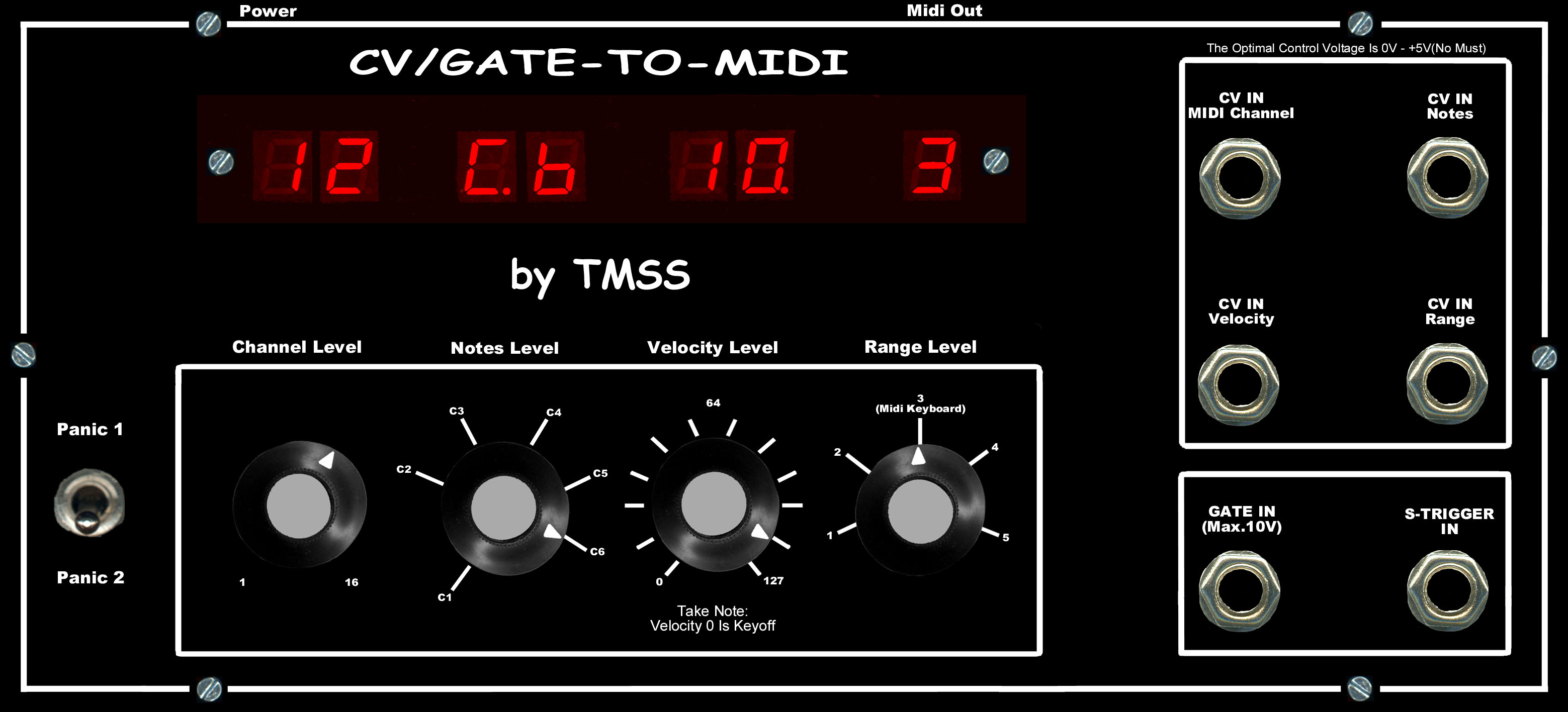 TMSS Theis CV to Midi Interface CV-Midi Interace by Horst Theis / TMSS synthesizer
