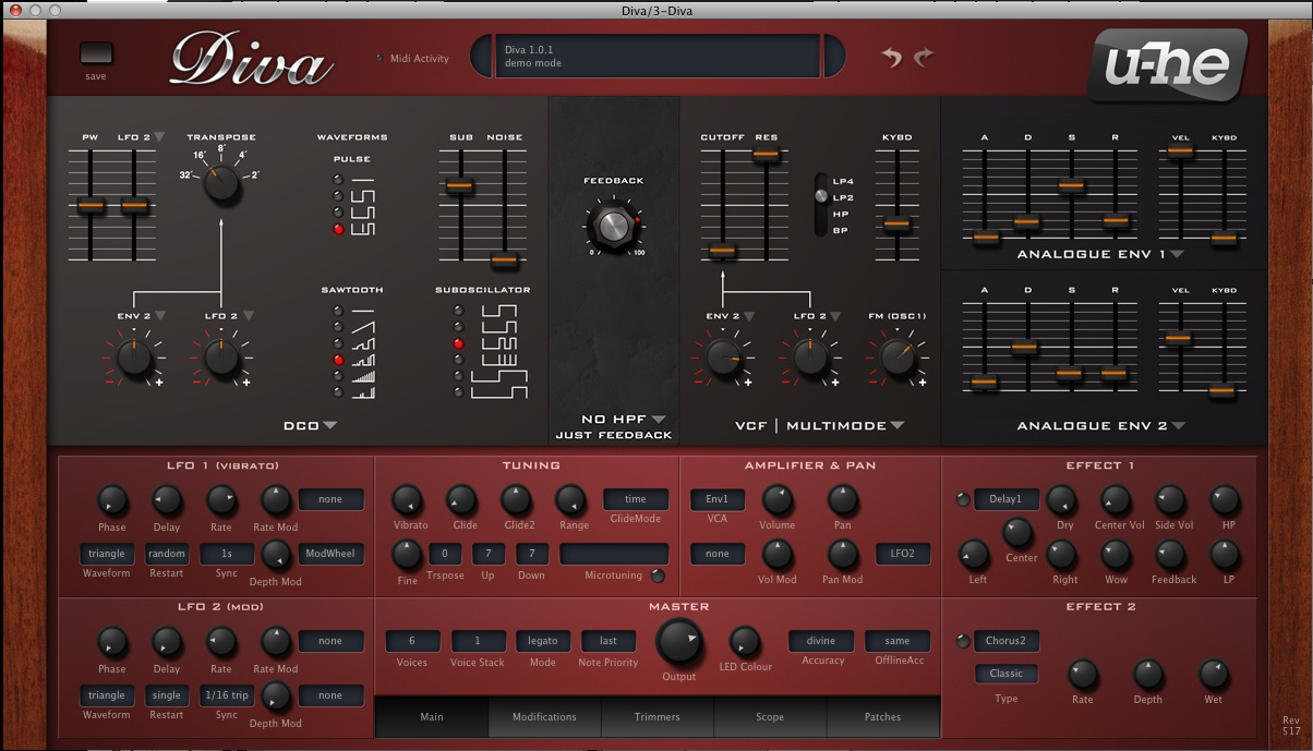 UHE Diva synthesizer