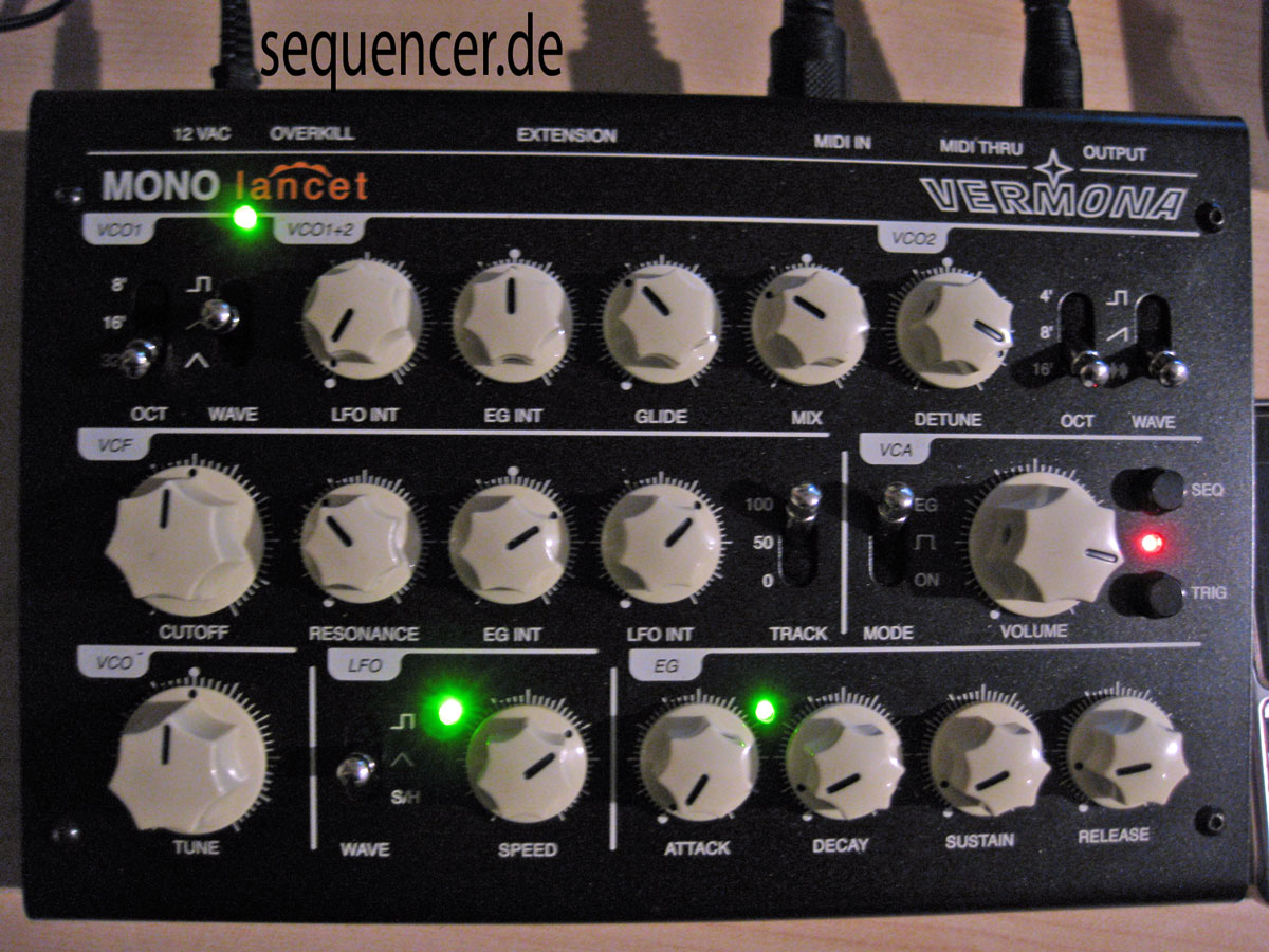Vermona MonoLancet synthesizer