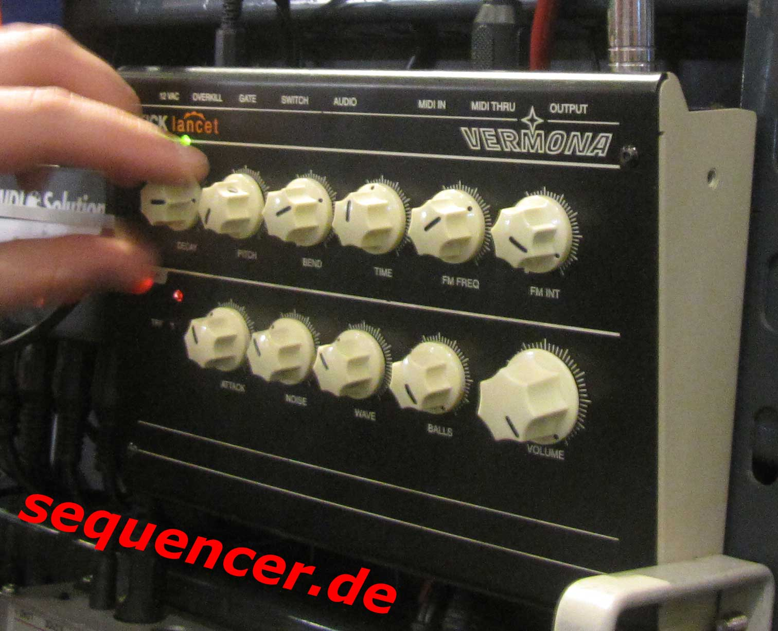 Vermona Kick Lancet synthesizer
