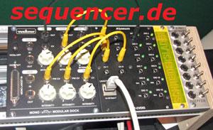 Vermona Mono Lancet als Modul Vermona Mono Lancet as 3HE Module synthesizer