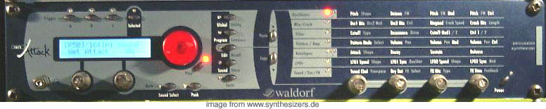 Waldorf Rack Attack synthesizer
