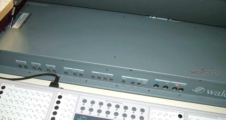 Waldorf Rückseite Rear Panel Waldorf Wave synthesizer