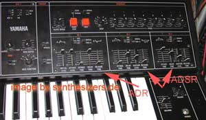 Yamaha CS30 synthesizer sequencer + ENV